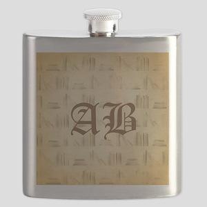 Vintage Style Custom Monogram Flask