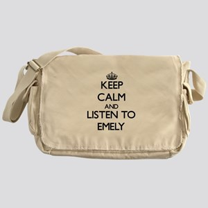 Keep Calm and listen to Emely Messenger Bag
