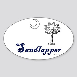 south Carolina sandlapper Oval Sticker