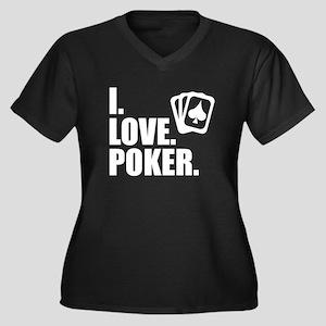 I Love Poker Plus Size T-Shirt