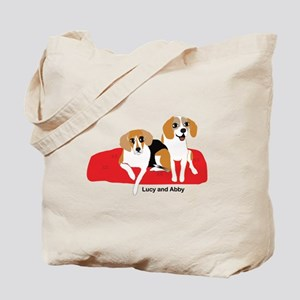 Lucy and Abby Tote Bag