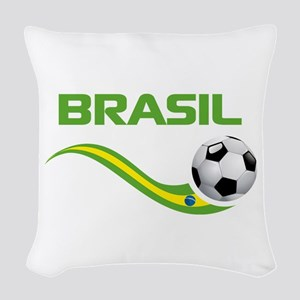 Soccer Brasil Woven Throw Pillow