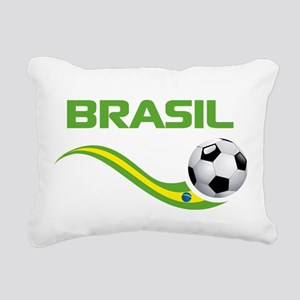 Soccer Brasil Rectangular Canvas Pillow