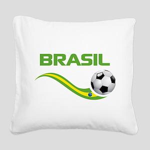 Soccer Brasil Square Canvas Pillow