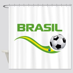 Soccer Brasil Shower Curtain