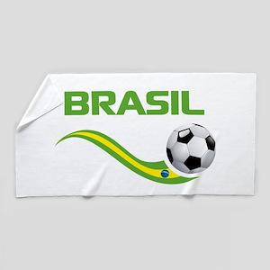 Soccer Brasil Beach Towel
