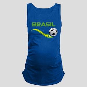 Soccer Brasil Maternity Tank Top