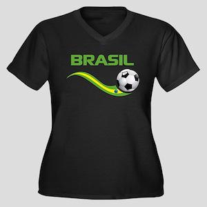 Soccer Brasil Plus Size T-Shirt