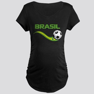 Soccer Brasil Maternity T-Shirt