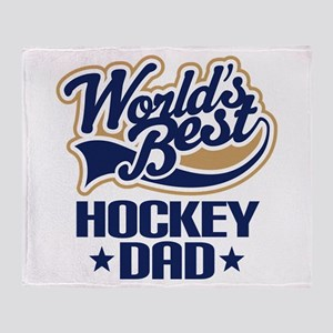Hockey Dad (Worlds Best) Throw Blanket