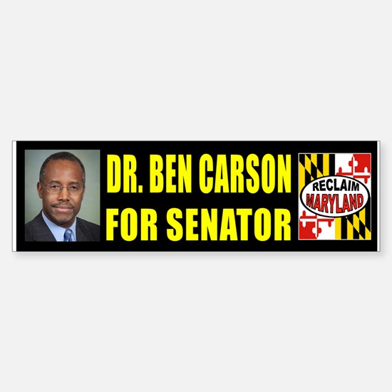 CARSON FOR SENATOR_001 Bumper Bumper Bumper Sticker