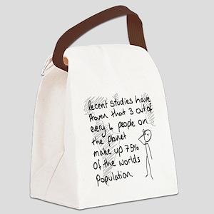 Statistics Joke Canvas Lunch Bag