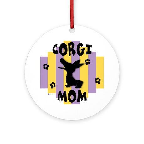 Corgi Mom Ornament (Round)