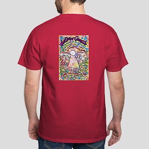 Spring Hearts Cancer Angel Dark T-Shirt