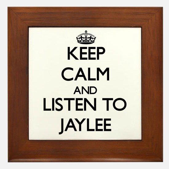Keep Calm and listen to Jaylee Framed Tile