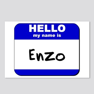hello my name is enzo  Postcards (Package of 8)