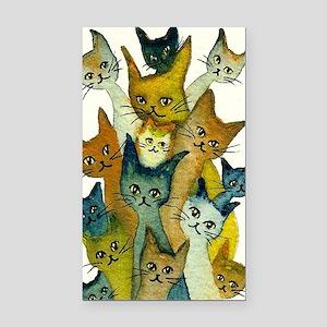 Kalamazoo Stray Cats Rectangle Car Magnet
