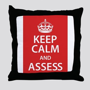 Assess Throw Pillow