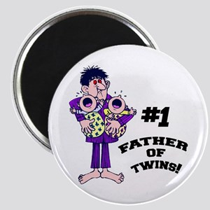 #1 Father Of Twins Magnet