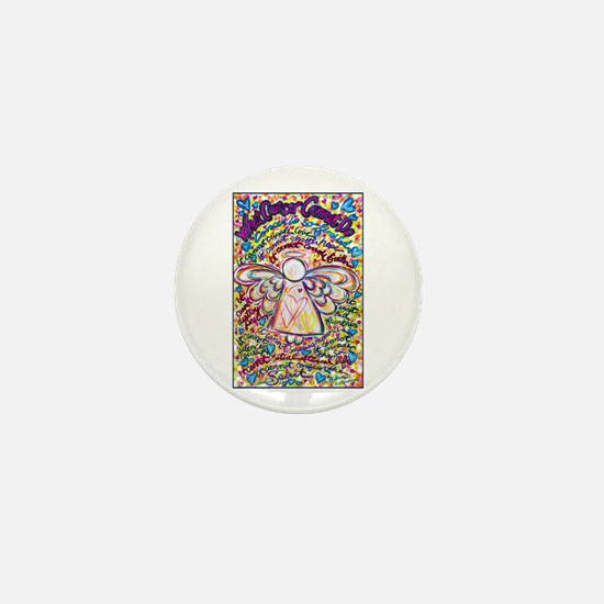 Spring Hearts Cancer Angel Mini Button