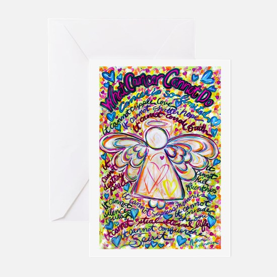 Spring Hearts Cancer Angel Greeting Cards (Pk of 2