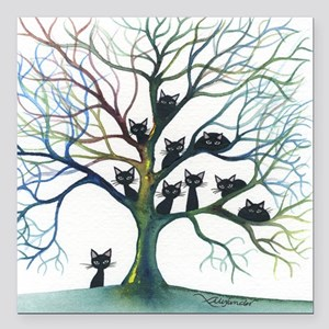 """Culpeper Stray Cats in T Square Car Magnet 3"""" x 3"""""""
