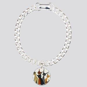 Irvine Stray Cats Charm Bracelet, One Charm