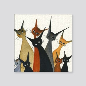 "Irvine Stray Cats Square Sticker 3"" x 3"""