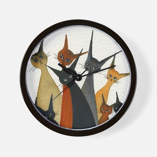 Irvine Stray Cats Wall Clock