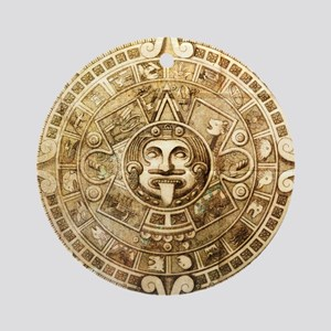 Aztec Design Round Ornament