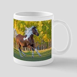Pinto Arabian running free Mugs