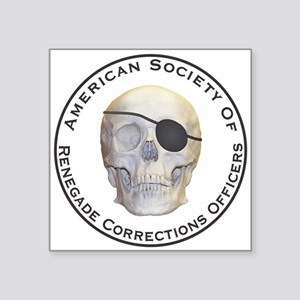 """Renegade Corrections Officers Square Sticker 3"""" x"""