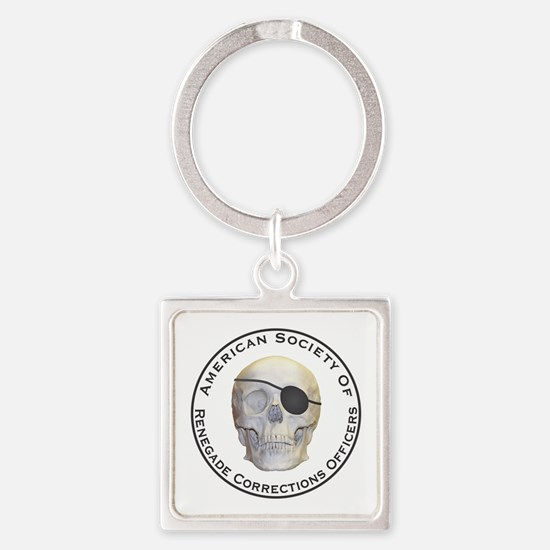 Renegade Corrections Officers Square Keychain
