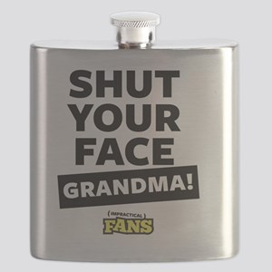 Shut your face grandma! From Impractical Fan Flask
