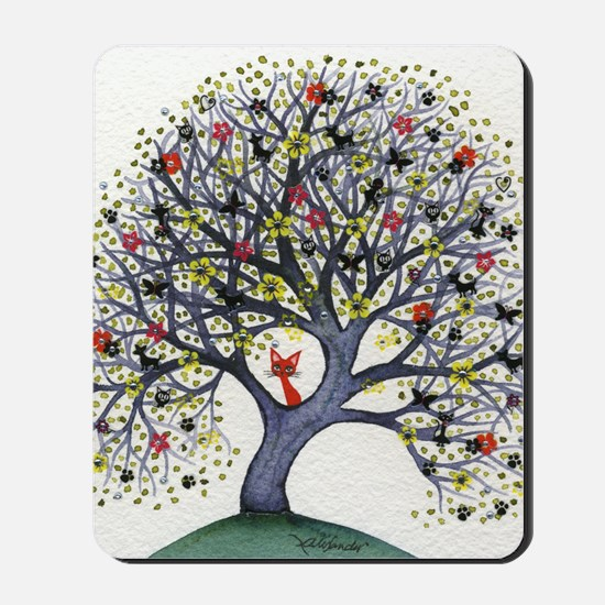 Alabama Stray Cat in Tree Mousepad