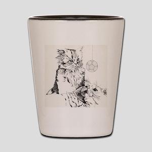 Playful Kittens Shot Glass