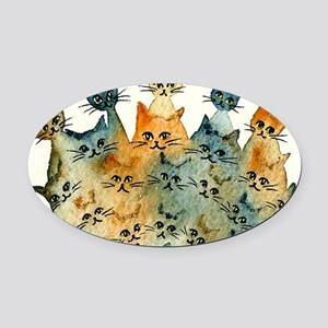 Charlottesville Stray Cats Oval Car Magnet