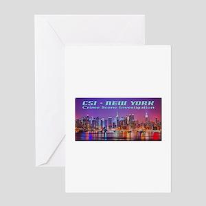 CSI New York Skyline Greeting Cards