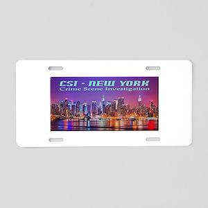 CSI New York Skyline Aluminum License Plate