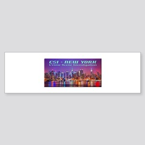 CSI New York Skyline Bumper Sticker