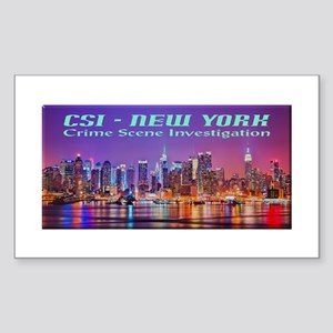 CSI New York Skyline Sticker