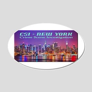 CSI New York Skyline Wall Decal