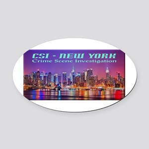 CSI New York Skyline Oval Car Magnet