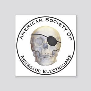 "Renegade Electricians Square Sticker 3"" x 3"""