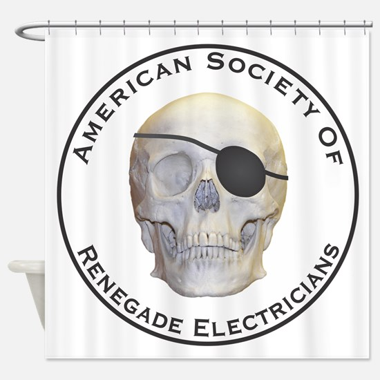 Renegade Electricians Shower Curtain