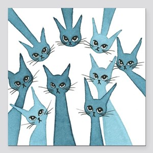 """Sarasota Stray Cats in T Square Car Magnet 3"""" x 3"""""""