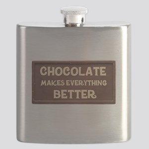 Chocolate Makes Everything Better Flask