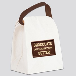 Chocolate Makes Everything Better Canvas Lunch Bag
