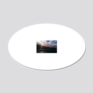 Maui Mountain Drive Sunset 20x12 Oval Wall Decal