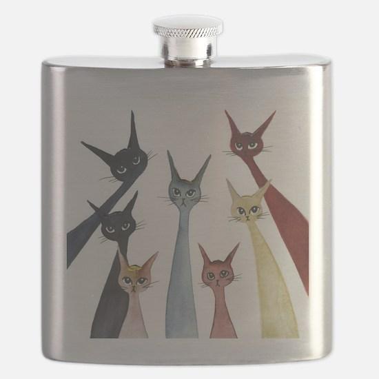 Aroostook Stray Cats  Flask